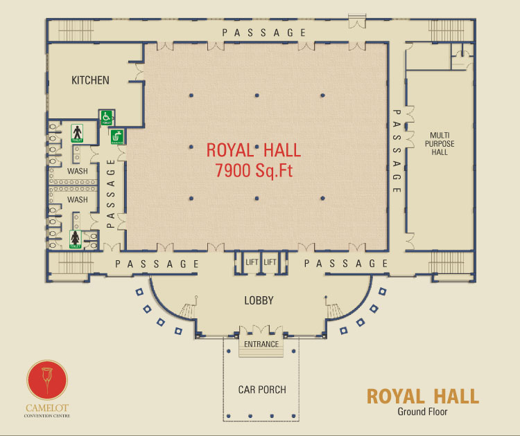 Camelot Convention Centre Royal Hall Offer King Size Banquet Hall With Carefully Woven Frills Of